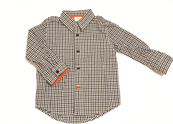 Egg Baby Long Sleeve Boys Woven Shirt Green
