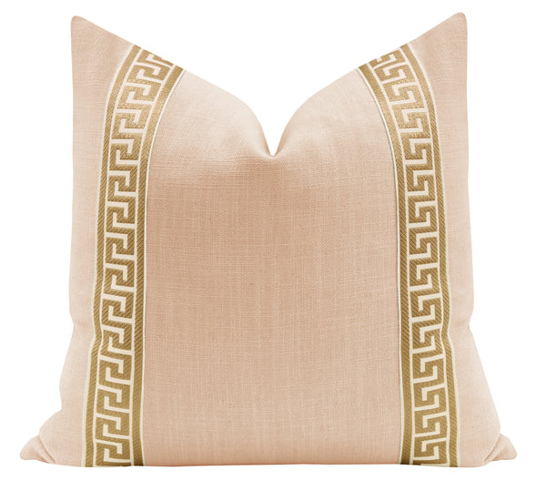 Signature Linen // Cameo + Greek Key Trim // Natural