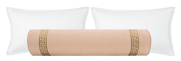 The Bolster :: Signature Linen // Cameo + Greek Key Trim // Natural