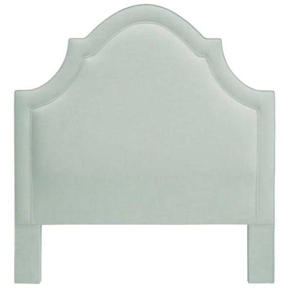 THE PLAZA HEADBOARD : Signature Linen // Spa Blue