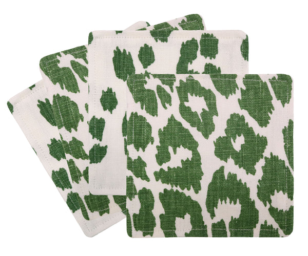 Cocktail Napkins :: Iconic Leopard Print // Green