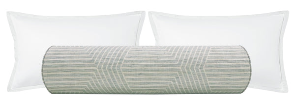 The Bolster :: Labyrinth Linen // Spa Blue