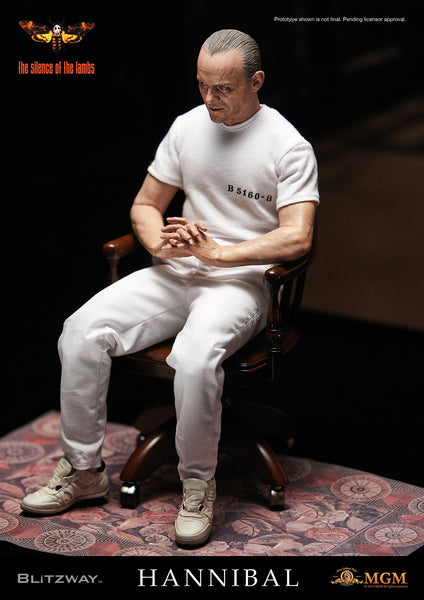 1/6 Scale The Silence of the Lambs Hannibal Lecter (White Prison Uniform) Figure by Blitzway
