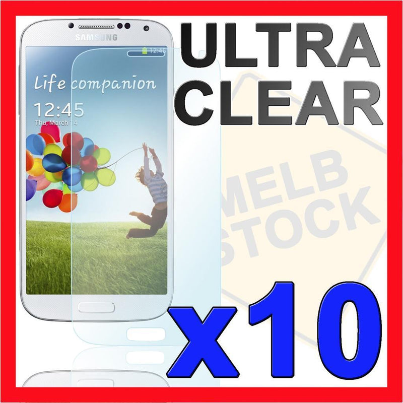 10x Ultra Clear LCD Screen Protector Film for Samsung Galaxy S4 SIV i9500 i9505