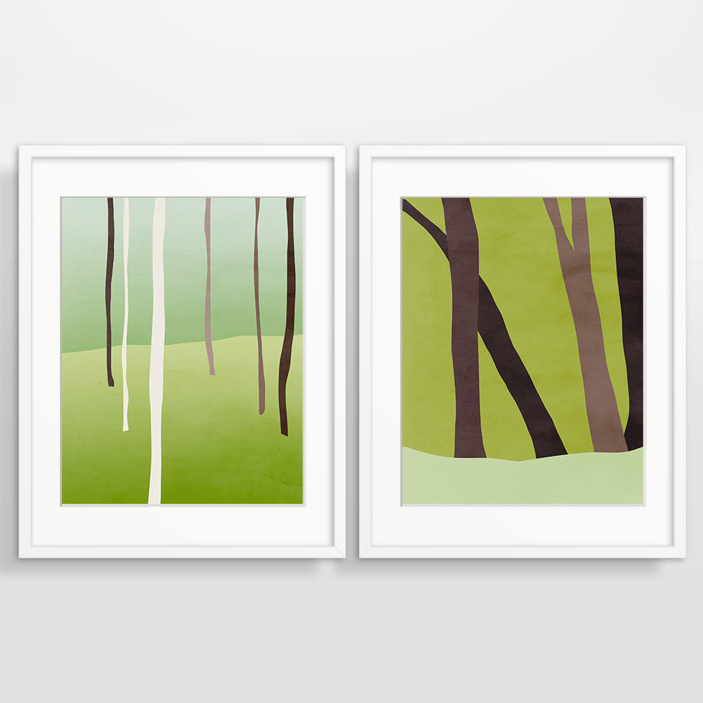 woodland decor wall art set of 2 by eve sand