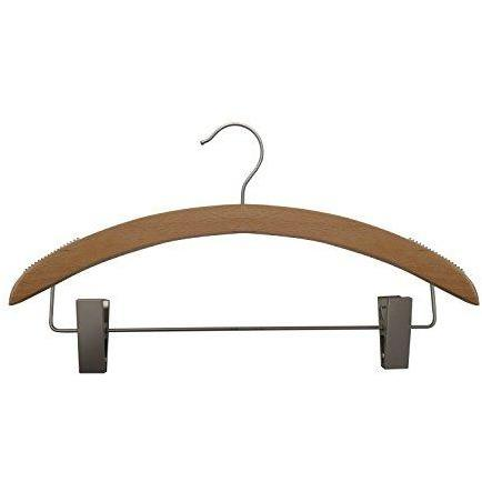 Wooden Suit Hangers - Low Gloss Beech - 16""