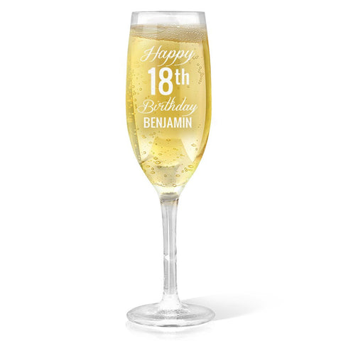 Fancy Happy Birthday Champagne Glass