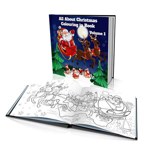 All About Christmas Volume 1 Hard Cover Colouring Book