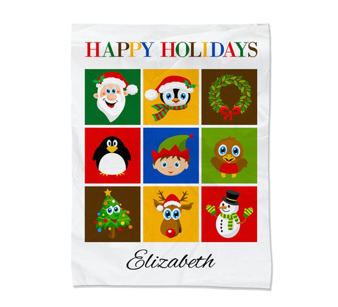 Christmas Collage Blanket - Medium