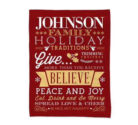 Holiday Rules Blanket - Small