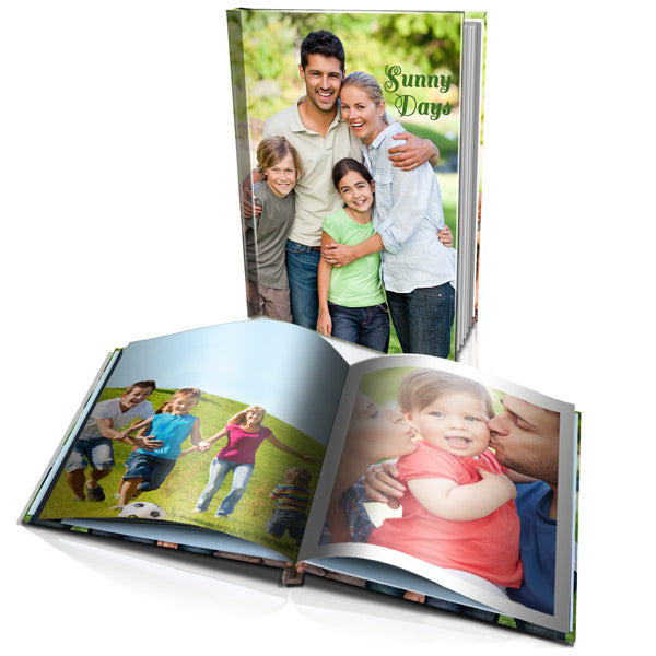"16x12"" Portrait Personalised Hard Cover Photo Book"