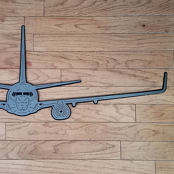 737 Airliner Premium Aircraft Silhouette Wall Art - PLANEFORM