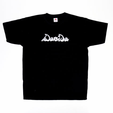 Davida T-Shirts  - Black with White Davida Si Logo