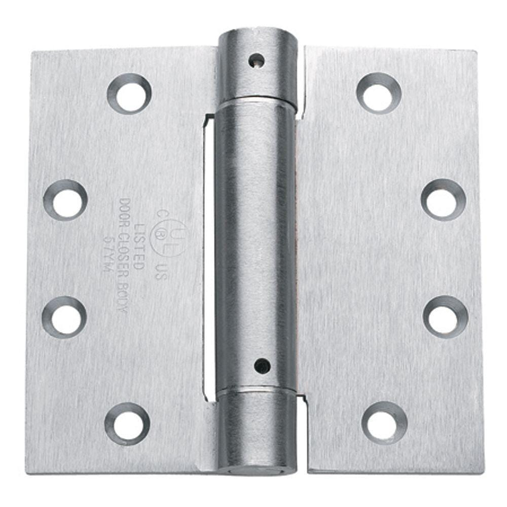 Spring Hinges - 4 Inches Square - Template Hole Pattern - Multiple Finishes - 2 Pack