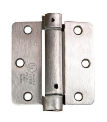 "Residential Self-Closing Spring Hinges 3 1/2"" with 1/4"" radius corner - Multiple Finishes Available - 2 Pack"
