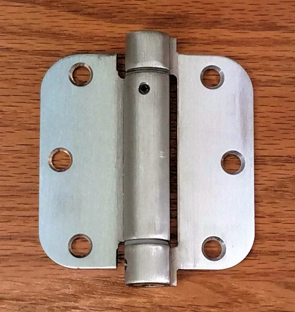 "Residential Self-Closing Spring Hinges 3.5 inch with 5/8"" radius corner - Stainless Steel - 2 Pack"