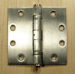 "4 1/2"" x 4 1/2"" with square corners Stainless Steel Ball Bearing Hinges - Sold in Pairs - Commercial Ball Bearing Hinges"