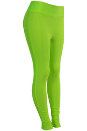 Women's High Waisted Leggings Neon Green (LG901)