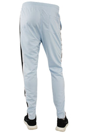 Side Stripe Pique Track Pants Sky Blue - Black - White (1276)