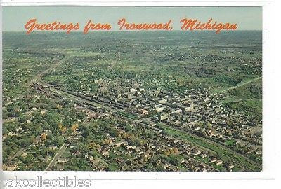 Aerial View of Ironwood,Michigan - Cakcollectibles - 1