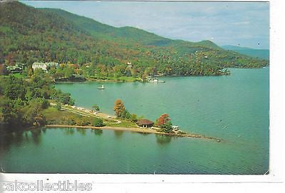 Aerial View of Lake George-New York - Cakcollectibles