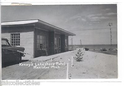 RPPC-Kenny's Lakeshore Motel-Manistee,Michigan 1956 - Cakcollectibles - 1