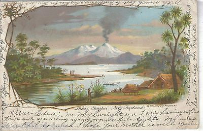 Lake Taupo-New Zealand 1903 - Cakcollectibles