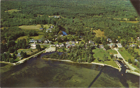 Aerial View of Melvin Village-New Hampshire - Cakcollectibles - 1