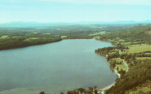 Aerial View of Lake Willoughby - Vermont