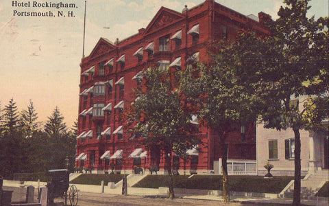 Hotel Rockingham-Portsmouth,New Hampshire 1914 - Cakcollectibles