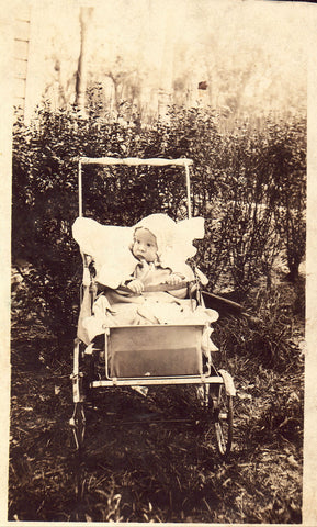 RPPC - Baby in A Stroller
