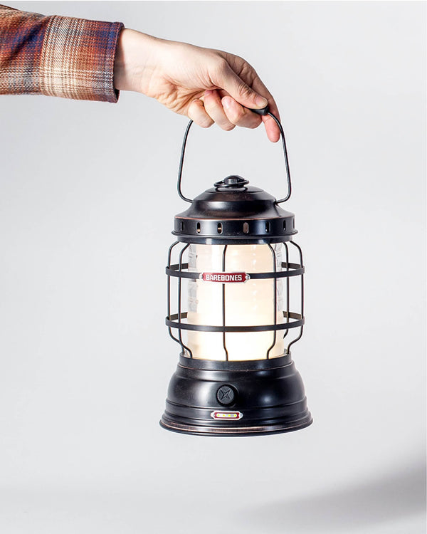 ecologyst - Sitka x Barebones Living Forest Lantern / Antique Bronze Lantern / Rechargeable LED Cabin Lantern with charging ports hero