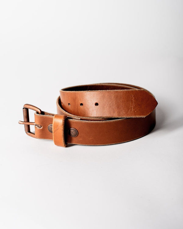 ecologyst x Populess Company The ecologyst Belt 9/10oz Leather By-Product Metal Hardware - Brown - Sitka