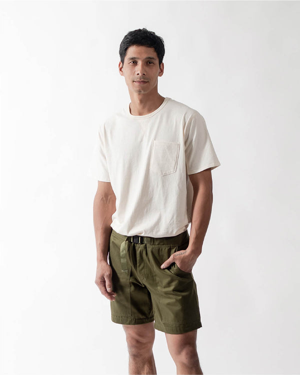 ecologyst Mens The Camp Short Organic Cotton Twill - Green - All