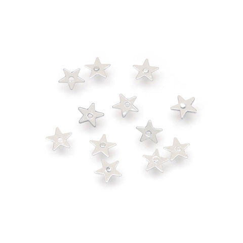 Darice - SEQUIN TINY STAR SILVER  - Sequins (400 pc) - Hallmark Scrapbook
