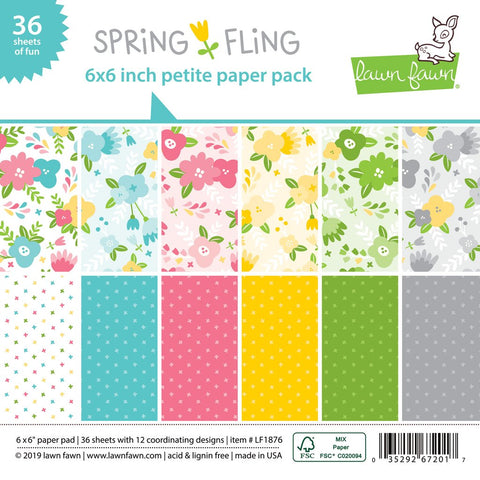 Lawn Fawn - SPRING FLING Petite Paper Pack 6x6