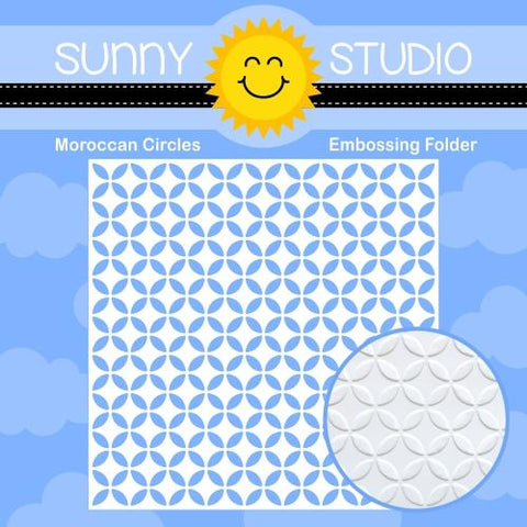 Sunny Studio - MOROCCAN CIRCLES - Embossing Folder