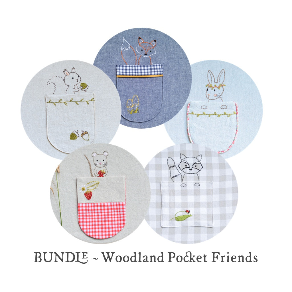Woodland Mouse pocket - PDF digital embroidery pattern by Twig and Tale 5