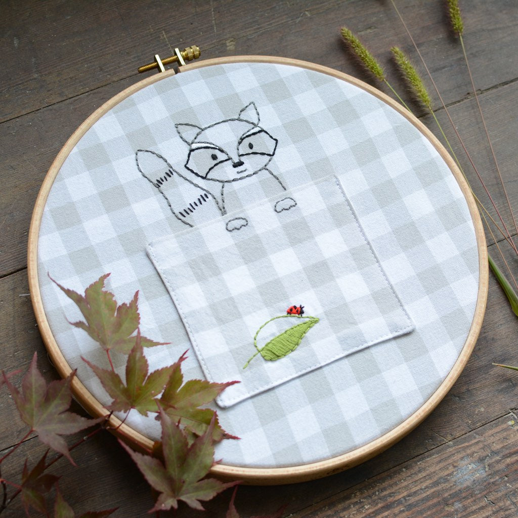 Woodland Raccoon - PDF digital embroidery pattern by Twig and Tale 2