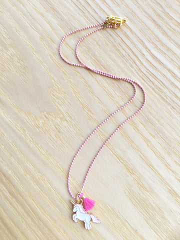 Necklace Unicorn pink