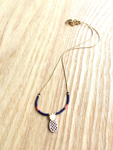 Necklace Pineapple blue