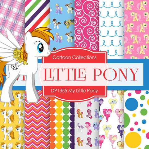 My Little Pony Paper DP1355 - Digital Paper Shop - 1