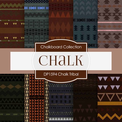 Chalk Tribal Digital Paper DP1594 - Digital Paper Shop - 1