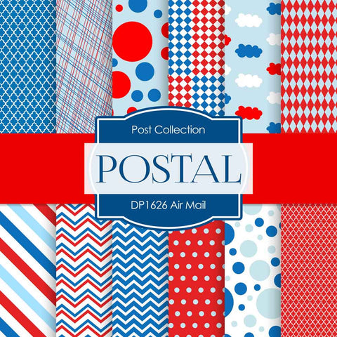 Air Mail Digital Paper DP1626 - Digital Paper Shop - 1