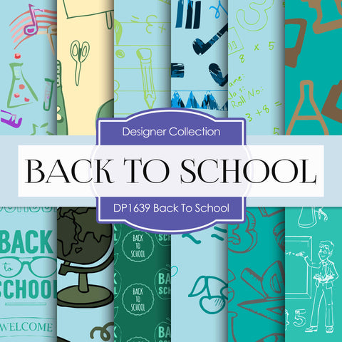Back To School Digital Paper DP1639 - Digital Paper Shop - 1