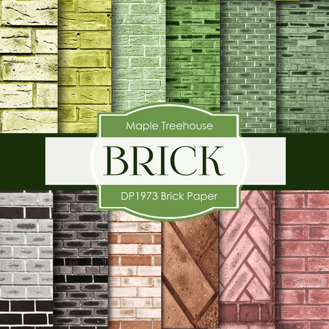 Brick Paper Digital Paper DP1973 - Digital Paper Shop - 1