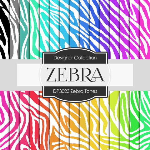 Zebra Tones Digital Paper DP3023 - Digital Paper Shop - 1