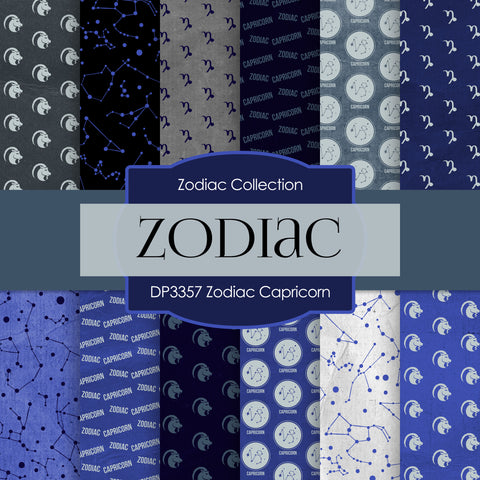 Zodiac Capricorn Digital Paper DP3357