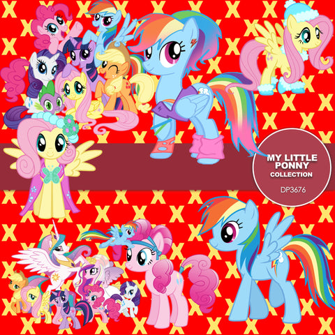 My Little Pony Paper DP3676 - Digital Paper Shop - 1