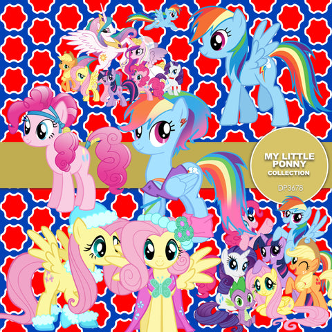 My Little Pony Digital Paper DP3678 - Digital Paper Shop - 1